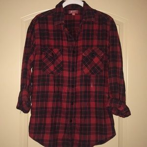 Arizona red and black flannel